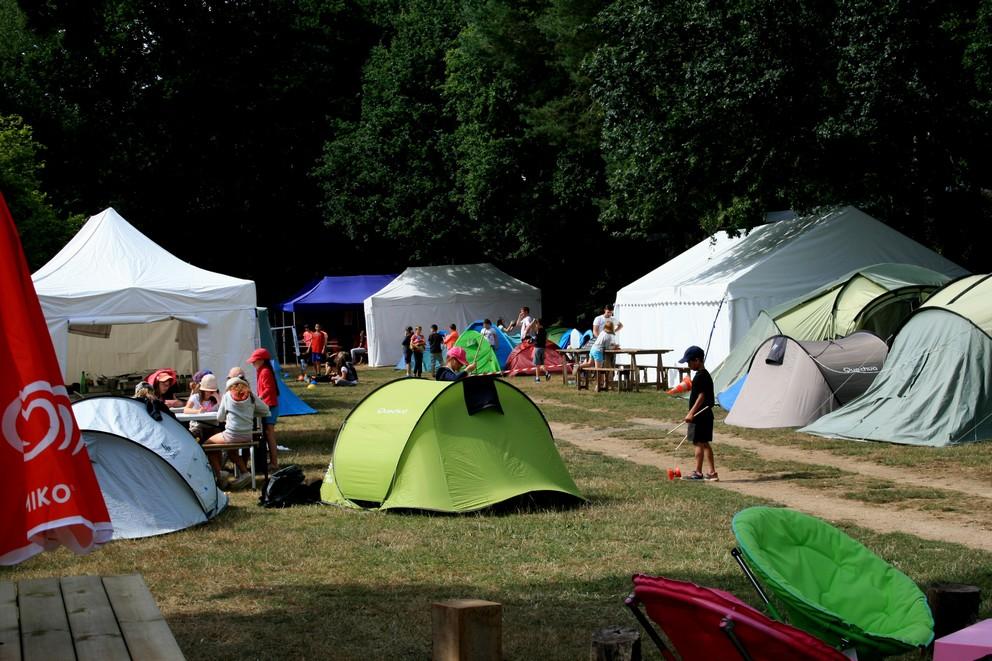 espace camp du terrain de camping