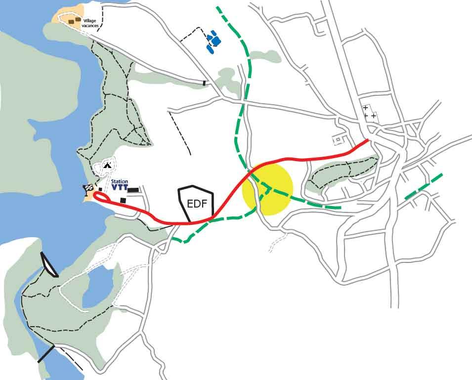 plan intersection voie verte